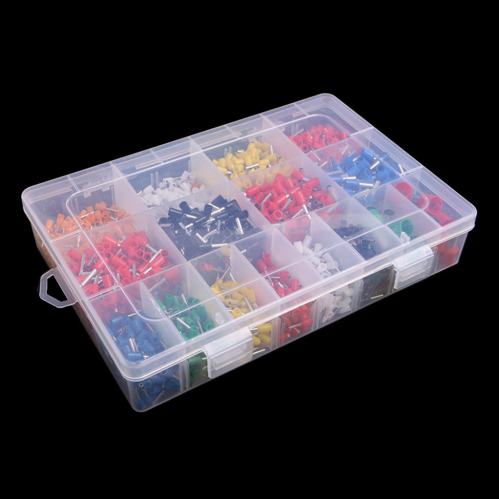 2120pcs insulated cord pin end terminal bootlace ferrules. Black Bedroom Furniture Sets. Home Design Ideas
