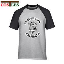 9dc04ce7 Sons of Odin Vikings Inspired T-Shirt man Cotton Ragnar Lothbrok Valhalla  Floki t shirt