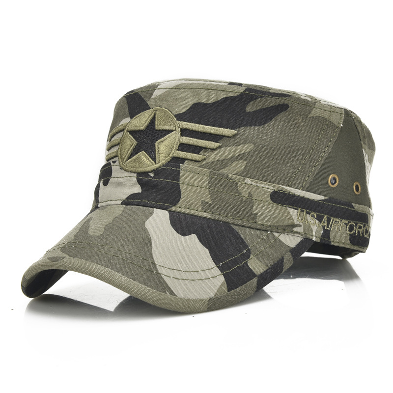 e0482d35ec9 Detail Feedback Questions about Men Military Hat Adjustable Flat Top Caps  Summer Male US Washed Cotton Twill Army Cap Camouflage Kepi on  Aliexpress.com ...