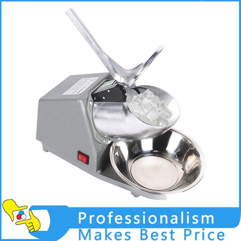 Stainless Steel Electric Ice Shaver Manual Ice Crusher Machine Snow Cone Maker jiqi electric ice crusher shaver snow cone ice block making machine household commercial ice slush sand maker ice tea shop eu us