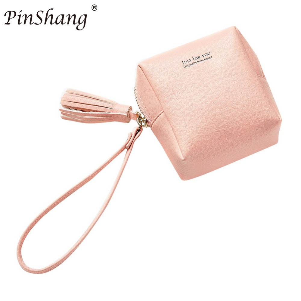 Pinshang Cute Girl Student Steamed Buns Shape Wallet PU Leather Coin Purse Mini Tassels  ...