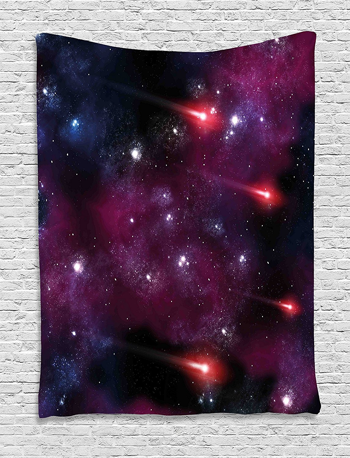 Space Tapestry Decor Four Comet on the Sky Stardust Meteor Shower Magical Wish Halo Scenery Wall Hanging