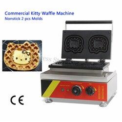 Kitty Cat Molds Waffle Cake Machine Waffle Baker Maker 2 pcs Molds Non-stick Cooking Surface 220V 110V CE