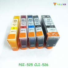 цена на PGI-525 CLI-526 Ink Cartridges For Canon PGI525 CLI526 PIXMA IP4850 IP4950 IX6550 MG5150 MG5250 MG5350 MX715 MX885 MX895