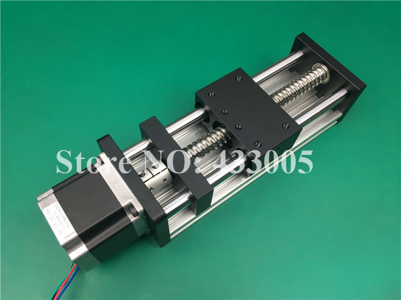 CNC GGP 1605 ballscrew Sliding Table effective stroke 650mm Guide Rail XYZ axis Linear motion+1pc nema 23 stepper  motor cnc stk 8 8 ballscrew screw slide module effective stroke 150mm guide rail xyz axis linear motion 1pc nema 23 stepper motor