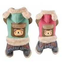 Petalk качество, одежда для маленьких питомцев, теплый зимний комбинезон для кошек, собак, пальто с капюшоном, одежда с флисовой подкладкой, Комбинезоны для домашних животных от XS до XXL