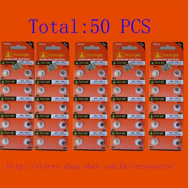 50 X AG0 LR521 379 SR521SW alkaline battery N
