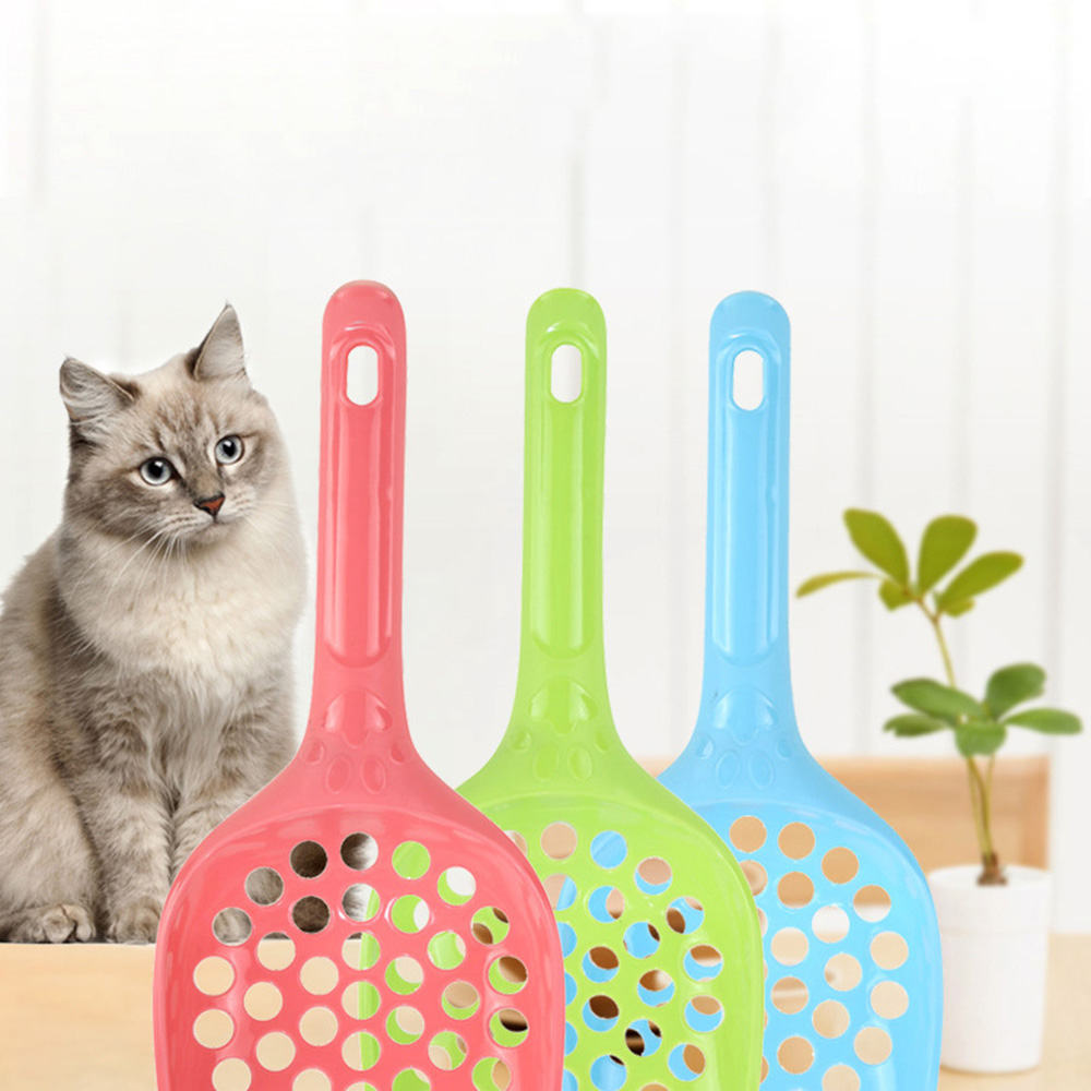 Plastic Cat Litter Shovel Pet Cleanning Tool Plastic Scoop Cat Sand Poop Shovel Waste Tray Products Toilet Pet Supply