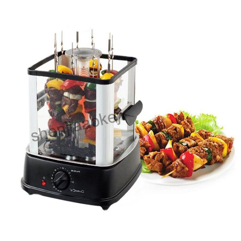 Four électrique intérieur sans fumée barbecue cuisinière automatique rotatif barbecue barbecue machine agneau kebab machine 220 v - 2
