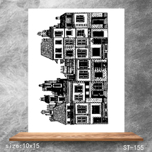 ZhuoAng Magnificent building Transparent Seals for DIY scrapbooking photo album Clear Stamps