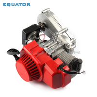 49CC 2 Stroke Motor Engine with T8F 14t Gear Box Easy to Start Pocket Bike Mini Dirt Bike Engine DIY Engine
