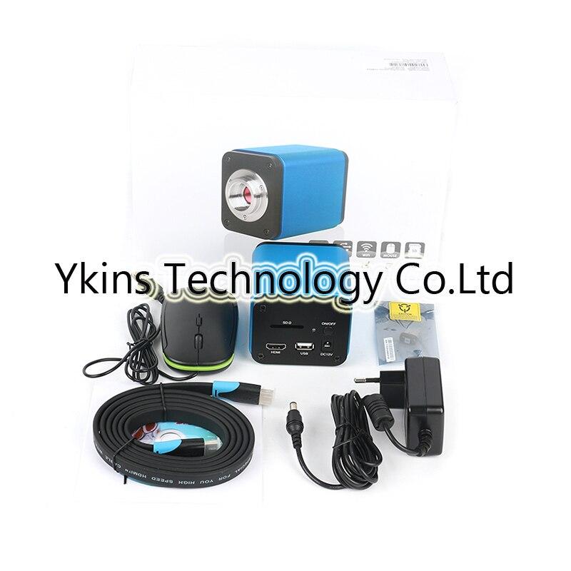 Auto Foco 60FPS IMX185 1080 p HDMI USB WIFI Câmera De Vídeo Microscópio Industrial C-Montagem Da Lente auto foco de solda microscópio