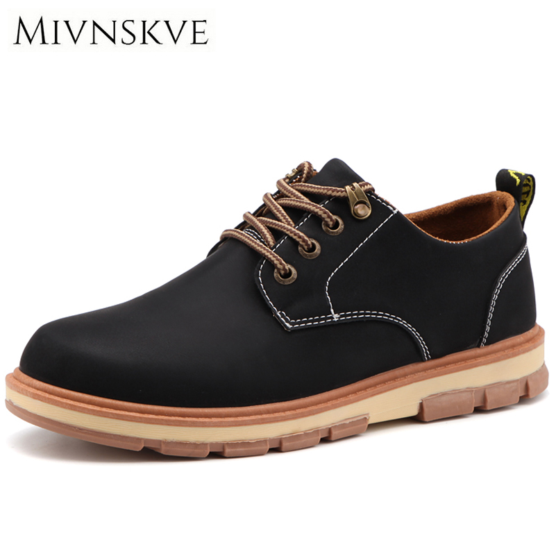 MIVNSKVE Luxury Brand Men Shoes Retro Suede Mid Footwear High Quality Men Leather Shoes Autumn Male Flats Man Casual Shoes 39-44 top brand high quality genuine leather casual men shoes cow suede comfortable loafers soft breathable shoes men flats warm