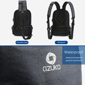 Image 3 - OZUKO Multifunktions Brust Pack Männer Fashion Schulter Crossbody tasche Männlichen Wasserdicht Brust Taschen USB Lade Reise Schlinge Tasche