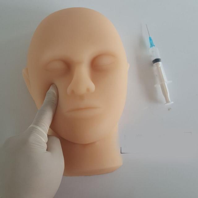 Silicone head model skin suture facial model minimally invasive cosmetic modelSilicone head model skin suture facial model minimally invasive cosmetic model