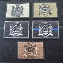 Embroidered Patches United States New York State Flag Patch Tactical 3D National Flags Army Armband Badge