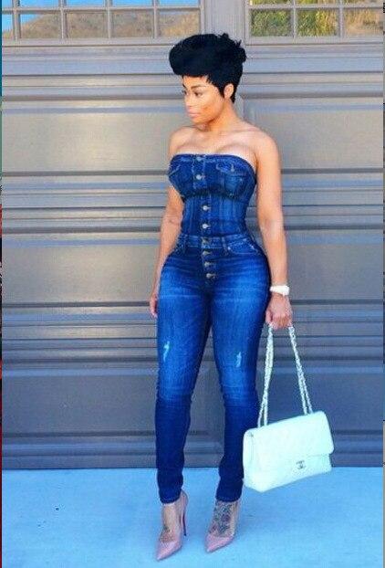 2016 Hot Sale New Women Summer Celebrity Denis Jumpsuit Sexy Off shoulder Club Bandage Rompers Bodysuit vestidos catsuit