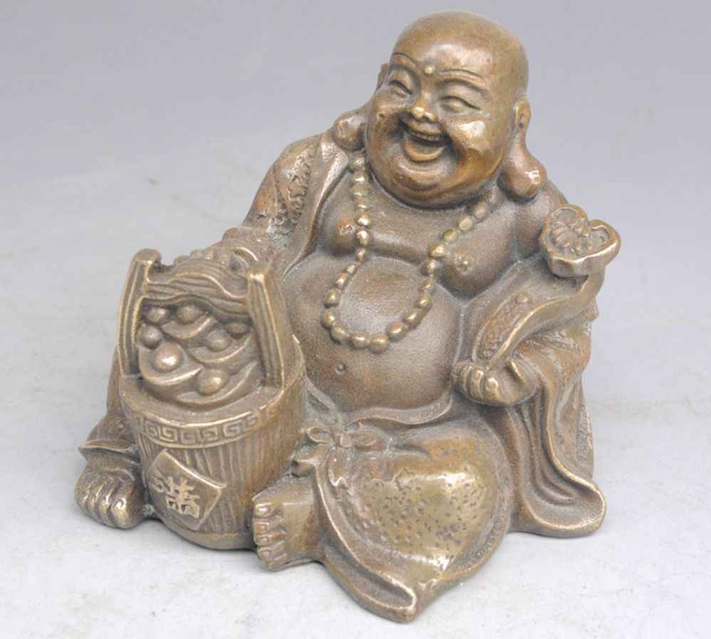 chinese fengshui brass Bullions yuanbao ingot ruyi seat Maitreya Buddha statuechinese fengshui brass Bullions yuanbao ingot ruyi seat Maitreya Buddha statue