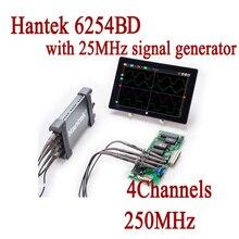 6254BD Osciloscopio Hantek ПК на базе портативной цифровой осциллограф 4 Каналы 250 мГц USB осциллографа с 25 мГц генератор сигналов