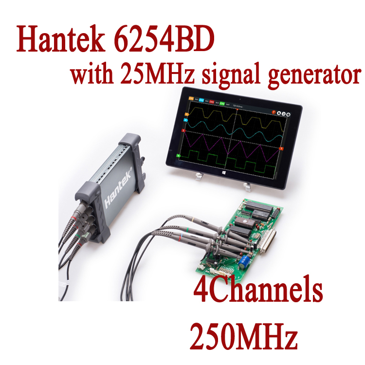 6254BD Osciloscopio Hantek PC Based Handheld Oscilloscope font b Digital b font 4Channels 250MHz USB Oscillograph