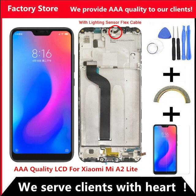 Рамка для Xiaomi Mi A2 Lite с ЖК дисплеем 5,84 дюйма, качество AAA, Замена ЖК экрана для Redmi 6 Pro, разрешение 2280*1080