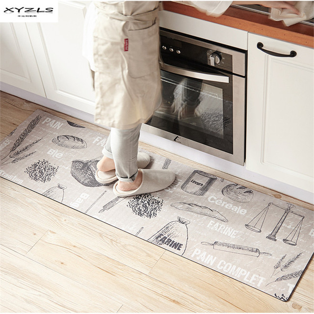 Kitchen Carpets Centerpiece For Table Xyzls Modern Welcome Floor Mats Bread Wheat Printed House Doormats Livingroom Anti