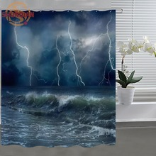 fantasy lightning Shower Curtain Eco-friendly Modern Fabric polyester Custom Shower curtain Home Decor H331W72CY