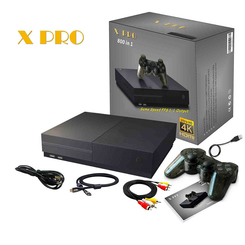 Retro Games 64 Bit X Pro Built in 800 Classic Games Support 4K HDMI /AV out Video Game Console to TV for family