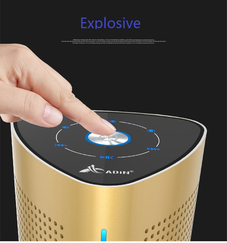 New ADIN V8 Vibration Speaker 36W Bluetooth Speakers Wireless Subwoofer NFC Stereo 3D Surround Touch Computer Phone Speaker (11)