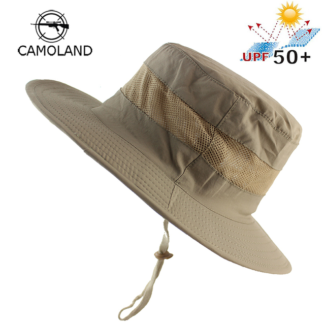 Lightweight UPF50+ Summer Sun Hat for Mens Womens Bucket Hat Breathable  Mesh Boonie Hat Outdoor Foldable Quickdry UV Protection a1f3f29b017