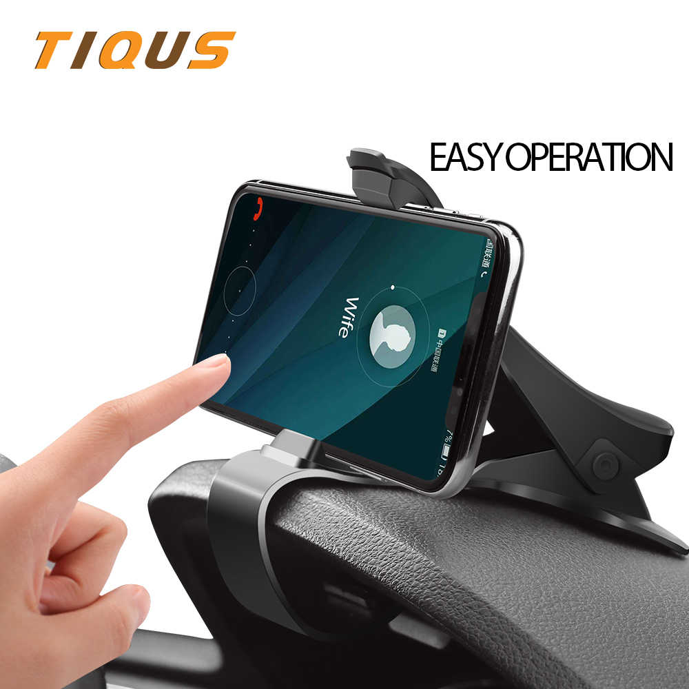 the latest 8c13d 8c97e TIQUS Universal Dashboard Car Holder Easy Clip Car Phone Holder For iphone  X XS XR 8 7 6 plus Mount Stand For Samsung Note 9 8