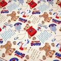 Бесплатная Доставка * ПРОДАЖА-Хлопок Саржа-прекрасный Даффи Медведь-Желтый (W140)