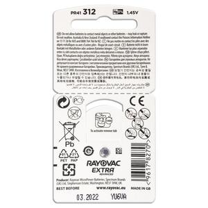 Image 4 - 새로운 30 셀/5 카드 rayovac extra 1.45 v 성능 보청기 배터리. Cic 보청기 용 아연 공기 312/a312/pr41 배터리