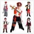 Crianças meninos pirata trajes/trajes cosplay para meninos/halloween trajes cosplay para crianças/crianças trajes cosplay