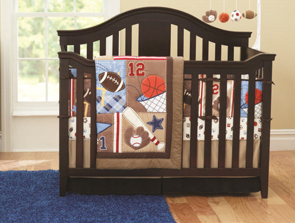 Акция! 7 шт., вышитые комплекты постельного белья для детей с героями мультфильмов, хлопковое постельное белье для малышей (4 бампера + пододе