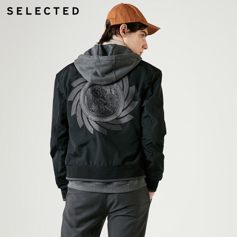 SELEZIONATO con cappuccio dei nuovi uomini del ricamo di modo giacca casual C  4191OM528-in Giacche da Abbigliamento da uomo su  Gruppo 1