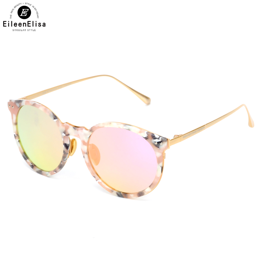Ee rosa óculos polarizados do vintage óculos de sol das mulheres rodada  óculos de sol mulheres com titanium quadro oculos de sol feminino b479756813