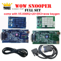 WOW Snooper V5.008 R2 +2015 R3+wow keygen tcs cdp pro single NEC relays two boards optional Multibrand Vehicles wow diagnostic