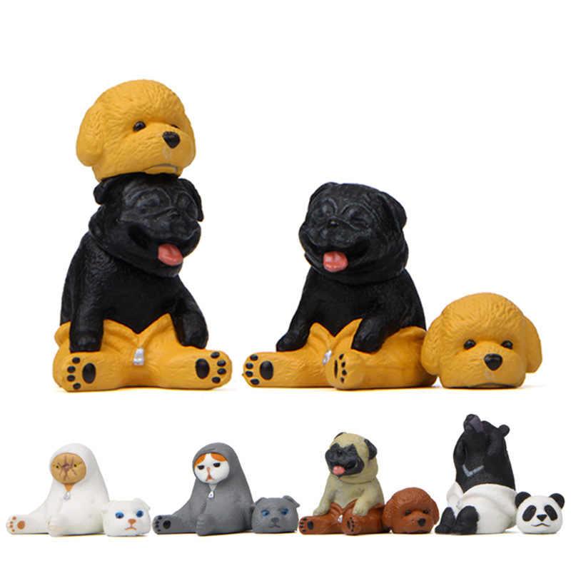Zabawki dla dzieci Kawaii ciepłe serii sukienka kot pies niedźwiedź koreański kreatywny ozdoby lalki model Action & figurki do zabawy lalki dla dzieci prezent dla dzieci