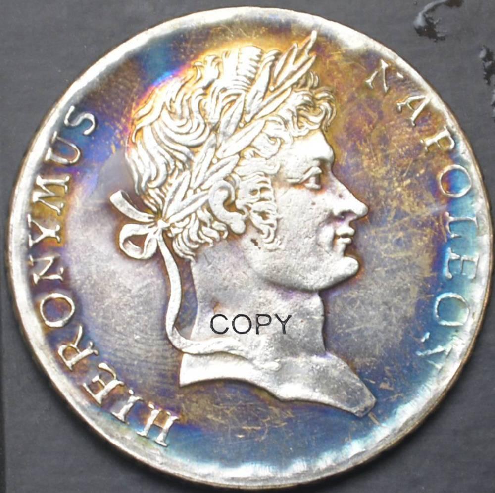 1810 C Frances Münzen EINE FEINE MARR Messing Silber Überzogen Kopieren Münze Hohe Qualität Können Verschiedene Farben Wählen