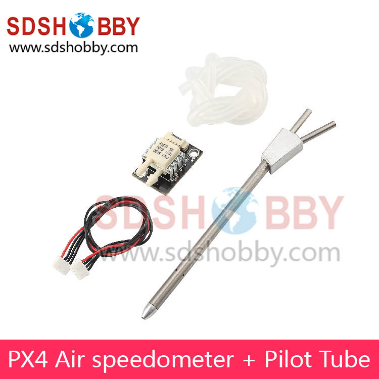 Pixhawk PX4 Air Speedometer Airspeed Sensor Gauge with Differential Pitot Tube Airspeed Meter Gauge Tube 4525DO