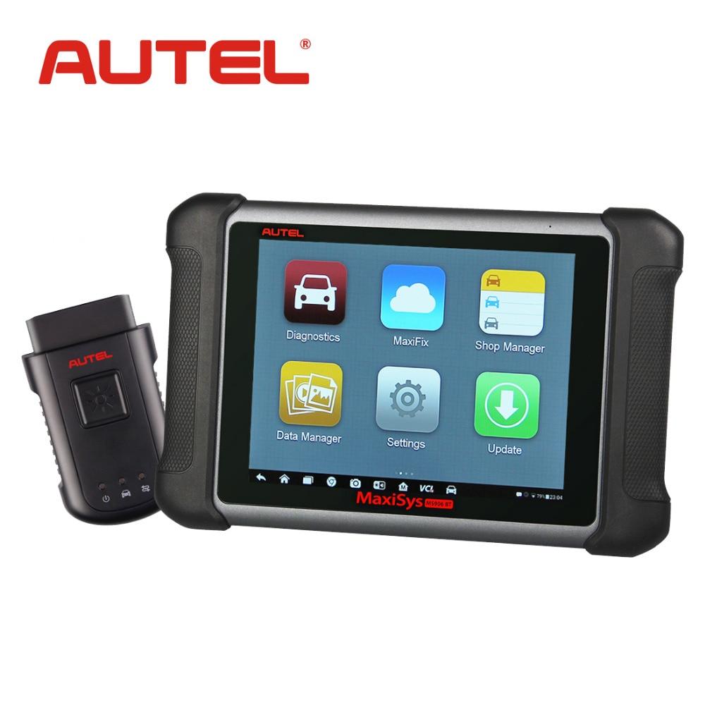 Original autel maxisys ms906bt wireless car diagnostic tool ms906 bt obd2 bluetooth ecu coding scanner better
