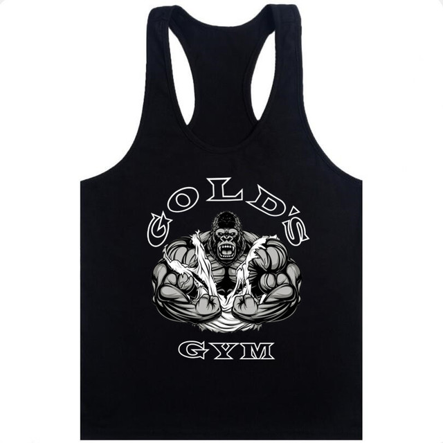 Fashion Golds Tank Top Men Sleeveless Shirt Bodybuilding Fitness Men's Cotton Singlets Muscle Clothes Workout Vest B-28