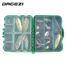 DAGEZI 37pcs/set Mixed soft baits hard fishing lure set Fishing accessories fishing tackle box 13