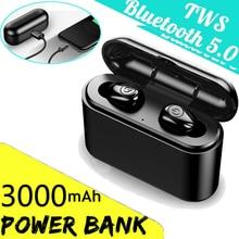 3000mah TWS X8s Wireless Bluetooth 5.0 Headset IPX7 Waterproof Mini Earphones Twins Earbuds 5.0 Ster