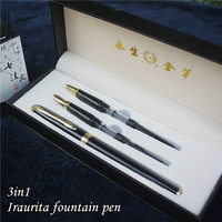 3 In 1 Fountain Pen With Gift Box Birthday Gift Pen Good Quality Luxury Iraurita Fountain