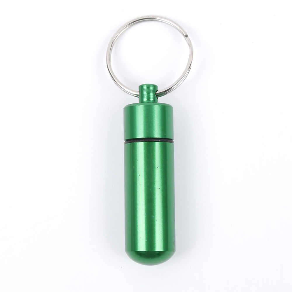 جديد جودة عالية المحمولة للماء البسيطة الأزرق الألومنيوم المفاتيح قرص تخزين مربع زجاجة حالة حامل شحن مجاني إلى الروسية
