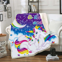 Plstar Cosmos Lisa and Frank Cartoon Blanket 3D print Sherpa on Bed Kids Girl Flower Home Textiles Dreamlike style-3