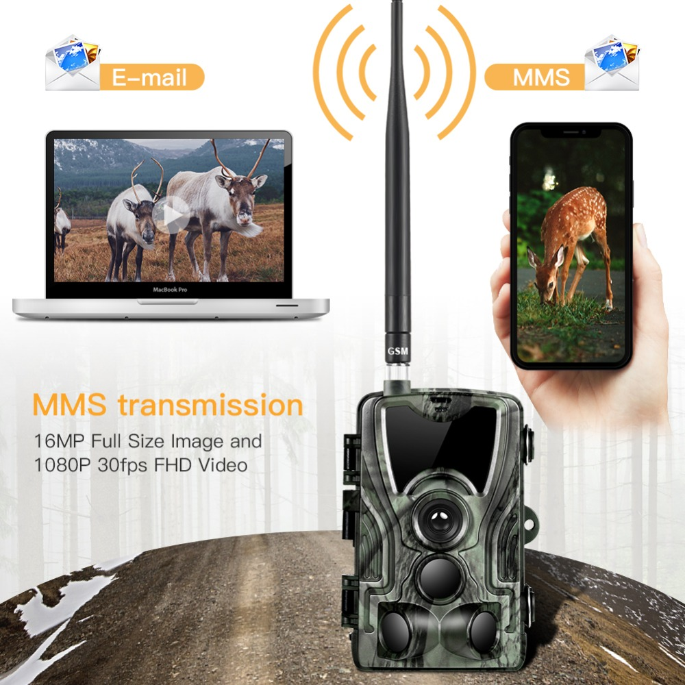 Image 3 - Goujxcy HC801M 2G MMS Trail Camera 16MP 1080P Infrared leds wildlife Camera Photo traps Surveillance Night Vision hunting camera-in Hunting Cameras from Sports & Entertainment