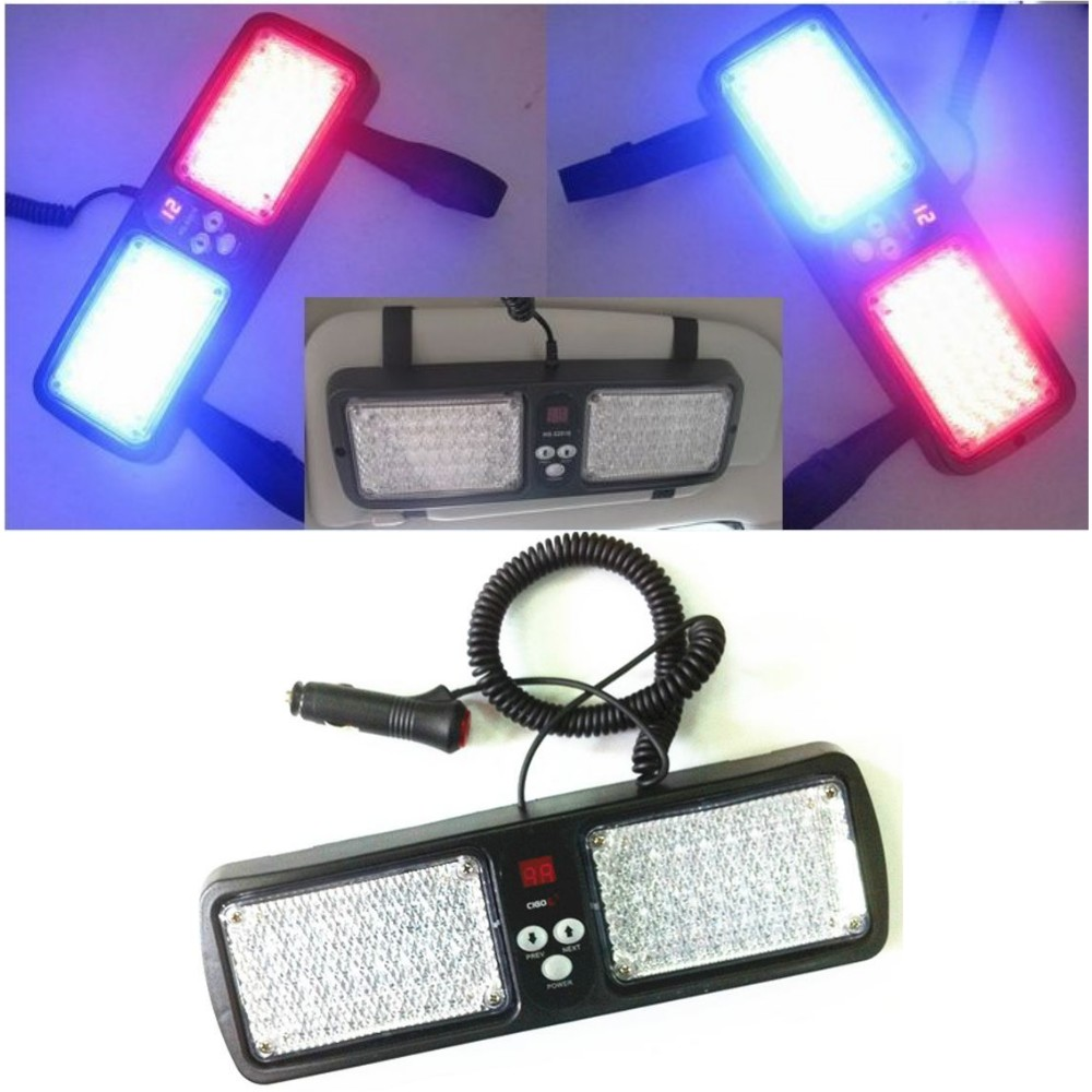 Led car sun visor light 12v Automotive Emergency flashing warning Police  Caution lights DRL strobe flasher daylight beacon lamp 9cfe06c2ce7
